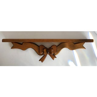 1970's Vintage Handmade Wooden Bow Wall Shelf Preview