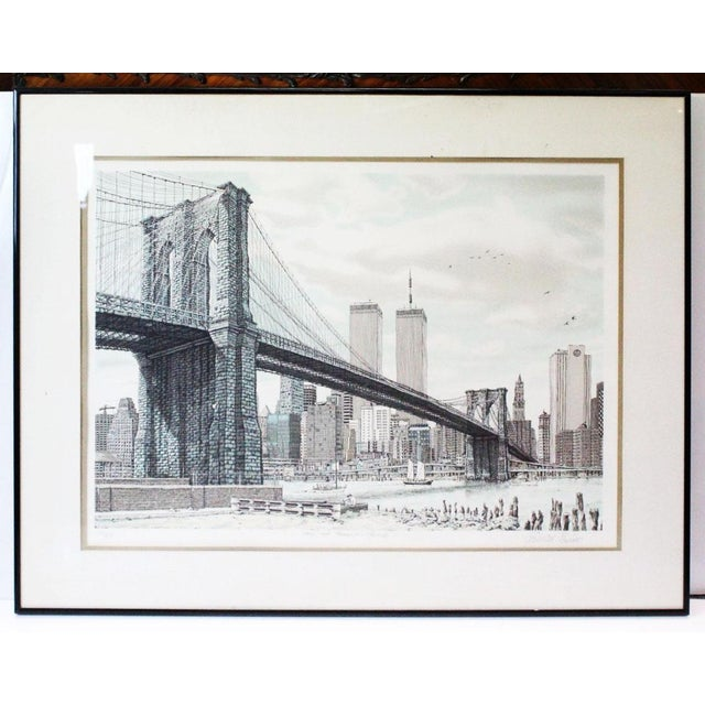 """""""Hail Brooklyn Bridge"""" Print of the Twin Towers For Sale - Image 9 of 9"""