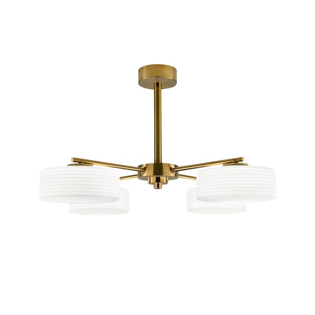 Capri Brushed Brass Ceiling Light For Sale