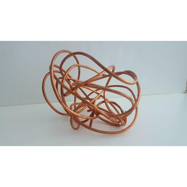 """Copper Original Copper Coil """"Chaos"""" Twisted Knot Sculpture For Sale - Image 8 of 11"""
