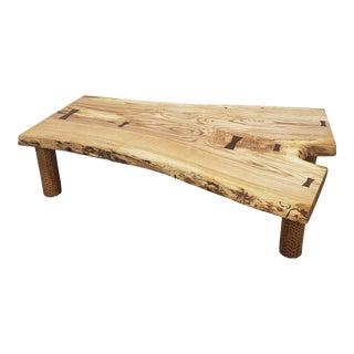 Organic Modern Live Edge Ash Coffee Table For Sale