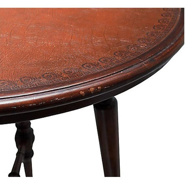 Brown Spanish Colonial Style Game Table & Chairs Set - Set of 5 For Sale - Image 8 of 11