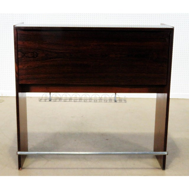 Danish Rosewood Dry Bar For Sale - Image 9 of 9