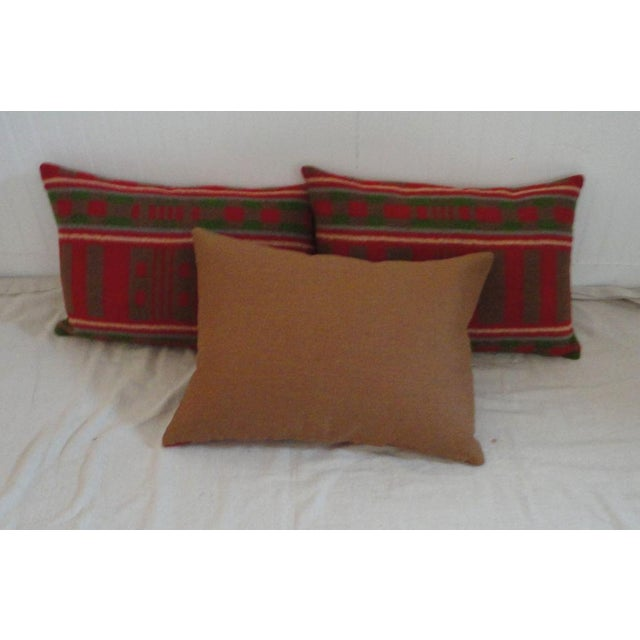 Mid 19th Century 19th Century Horse Blanket Bolster Pillows For Sale - Image 5 of 5