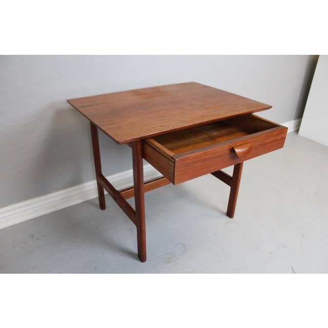 George Tanier Teak Side Table by P. Jeppeson For Sale - Image 5 of 9