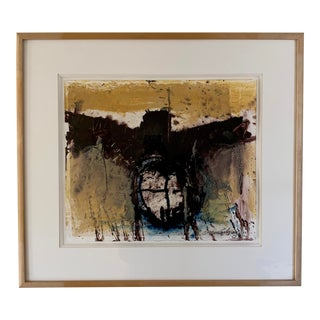 Framed Abstract Monotype For Sale