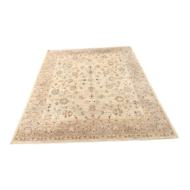 Muted Lovely Oushak Area Rug For Sale