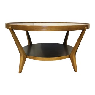 Mid-Century Modern Style Sherrill Co. Two Toned Wood Cocktail Table For Sale