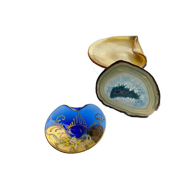 Murano Murano Hand Painted Dish For Sale - Image 4 of 5