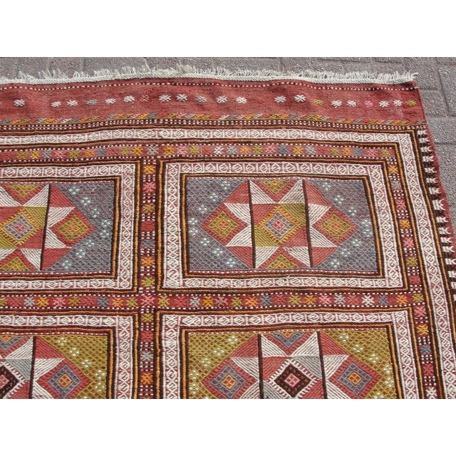 "Vintage Turkish Kilim Rug - 65.5′″ × 97"" For Sale - Image 4 of 13"