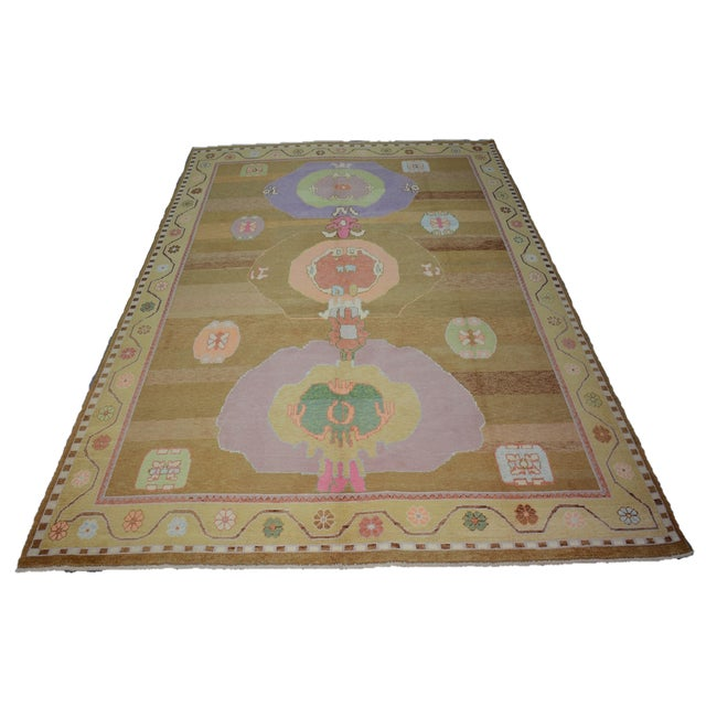 Oversized Hand Knotted Turkish Contemporary Wool Rug For Sale - Image 9 of 9