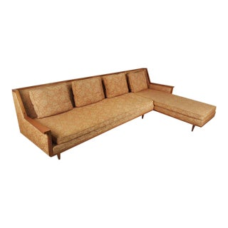 Mid-Century Modern Designer Sectional Sofa by Widdicomb