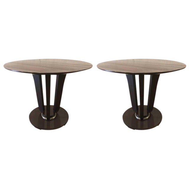Pair of Barbara Barry Gueridon Tables for Baker For Sale