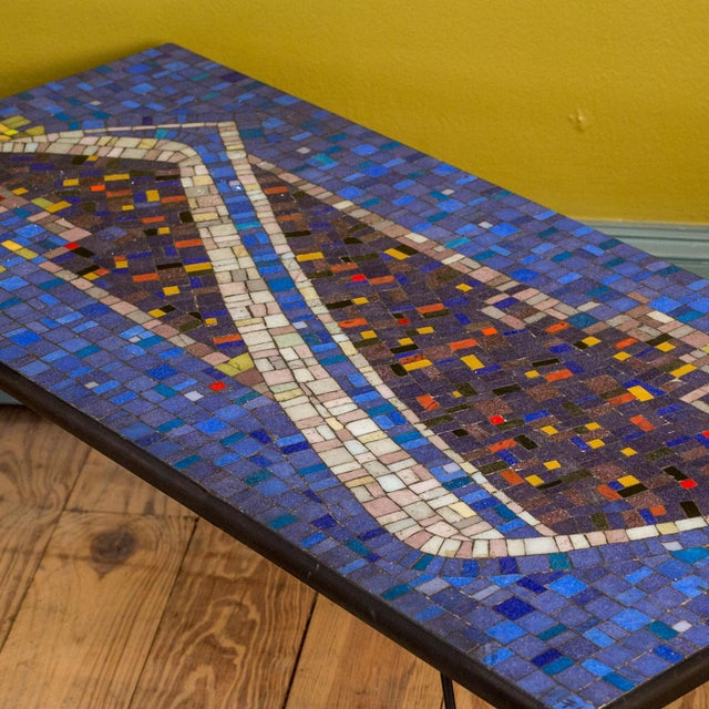1960s Mosaic Cocktail or Coffee Table For Sale - Image 5 of 6