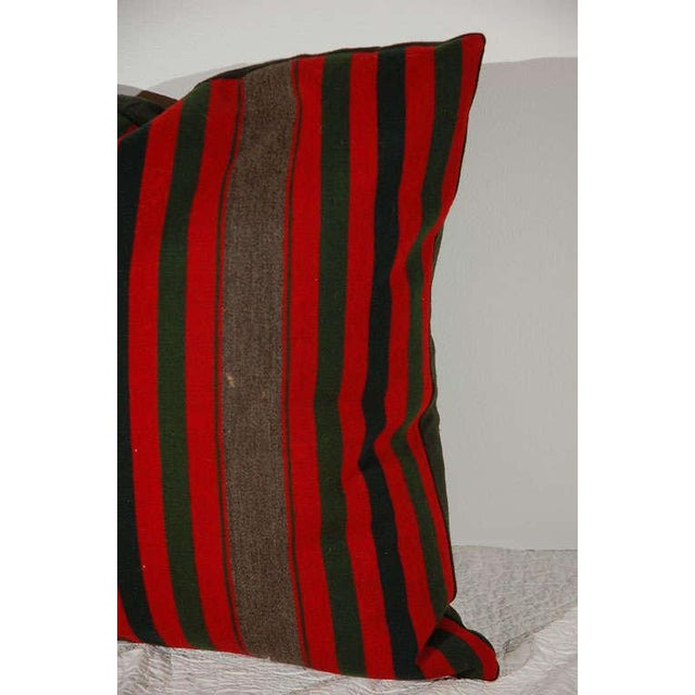 Mid 19th Century 19th Century Wool Indian Blanket Pillows For Sale - Image 5 of 6