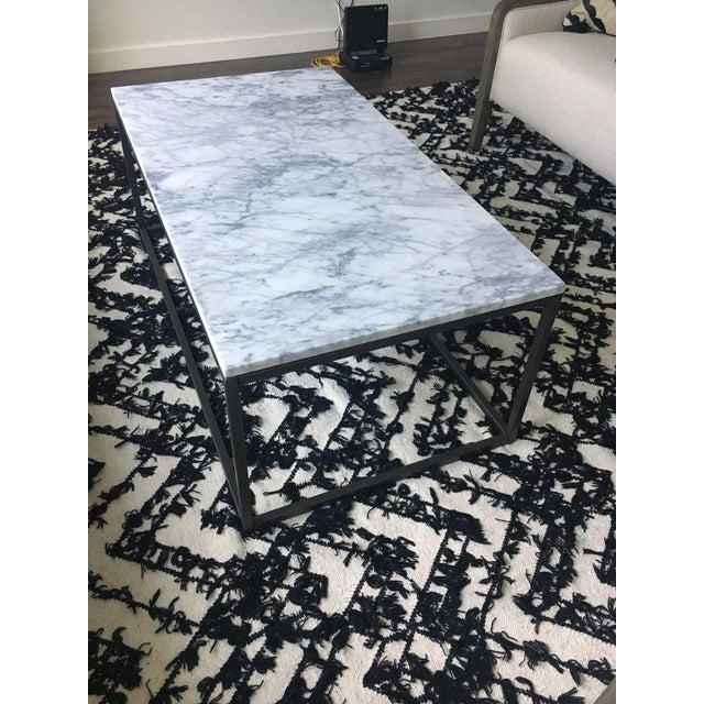 West Elm Marble Coffee Table - Image 2 of 4