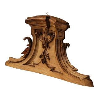 18th Century Italian Pearwood Hanging Carving With Bow Front For Sale