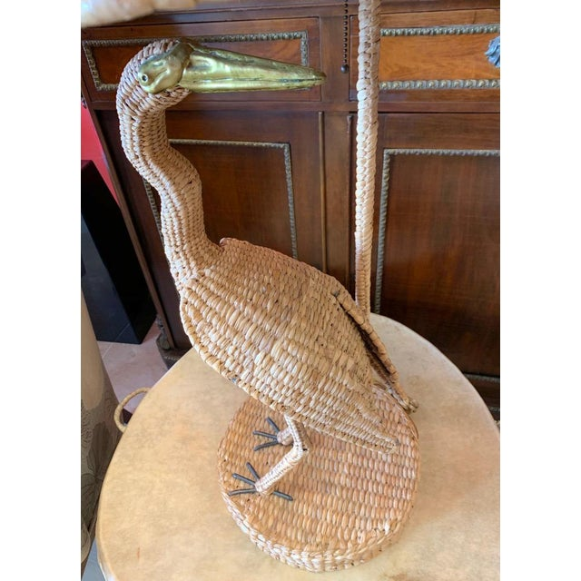 Mario Lopez Torres Large size Egret Lamp Table lamp from the Tzumindi workshop and gallery in Michoacan, Mexico. The lamp...