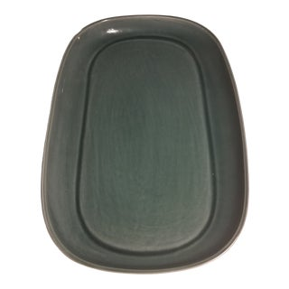 1950s Russel Wright Steubenville Cedar Green Serving Dish For Sale
