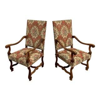 19th Century Os De Mouton Armchairs - a Pair For Sale