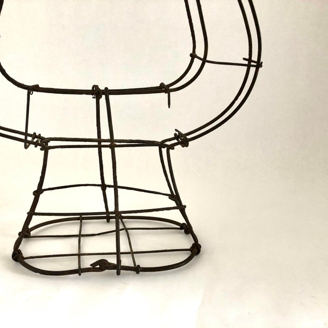1950s Vintage Wire Topiary in the Shape of a Lyre For Sale - Image 10 of 13