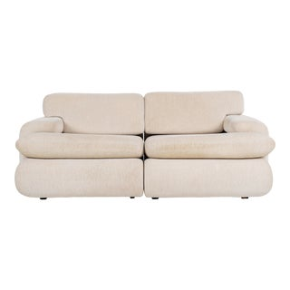 Vladimir Kagan Style Settee For Sale