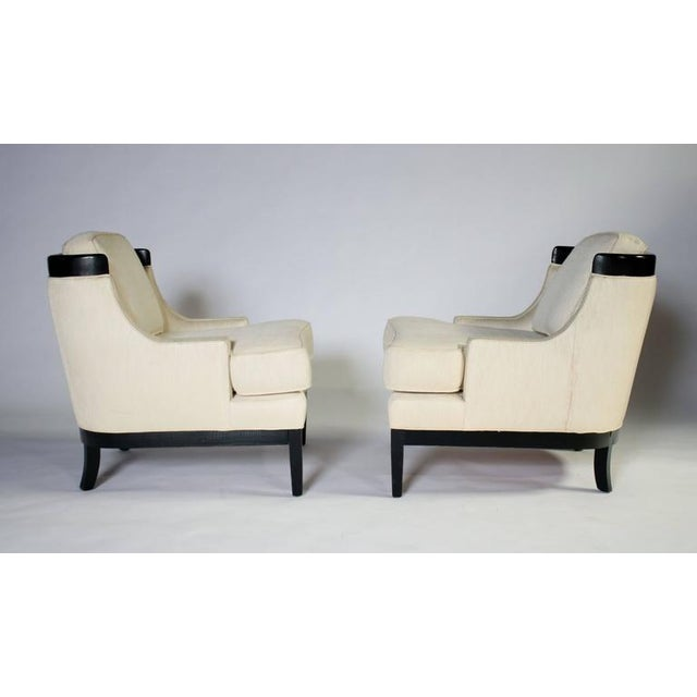 Tomlinson Pair of Erwin Lambeth Lounge Chairs for Tomlinson For Sale - Image 4 of 8
