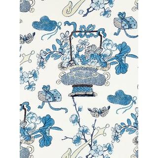 Scalamandre Shanghai Blossoms, China Blue Fabric Preview
