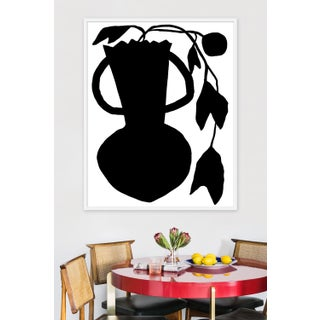 """Large """"Unusual Vase Four White"""" Print by Kate Roebuck, 40"""" X 50"""" Preview"""