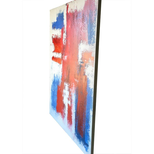 Mario Sergio Lopomo Vintage Abstract Painting For Sale - Image 4 of 10