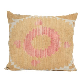 Suzani Yellow Pillow For Sale