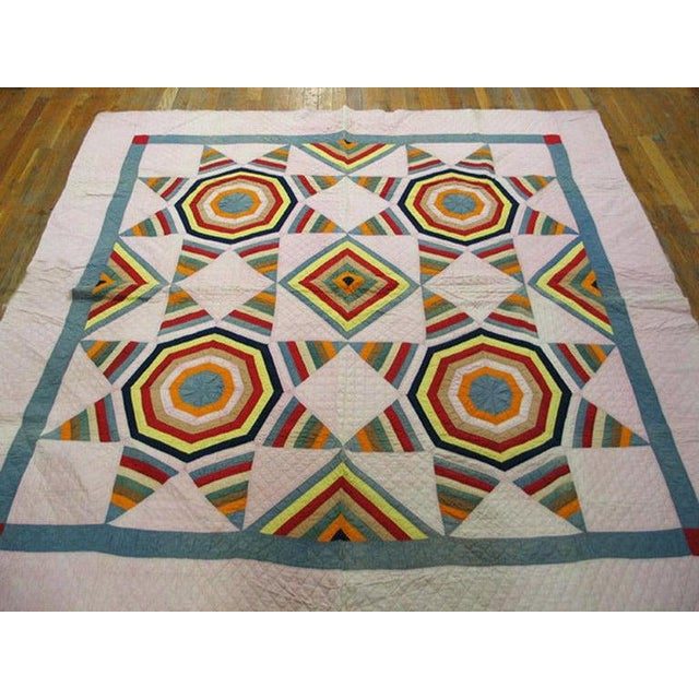 Antique American Quilt Blanket For Sale - Image 4 of 6