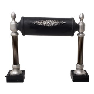 Desk Lamp With Marble Base and Classical Columns C.1930s For Sale