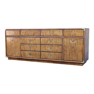 Campaign Drexel Heritage Accolade II Low 10 Drawer Dresser For Sale