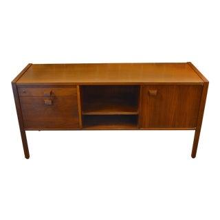 20th Century Scandinavian Modern Jens Risom Walnut Media Cabinet For Sale