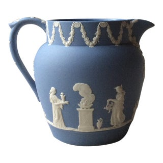 "Wedgwood ""Classical"" Blue Jasper Pitcher For Sale"