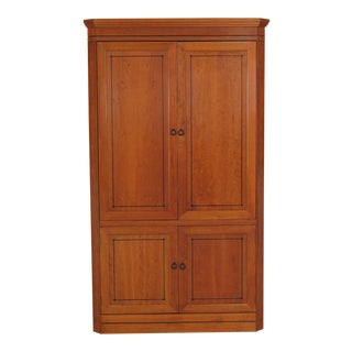 1990s Traditional Stickley 21st Century Collection Cherry Bedroom TV Armoire For Sale