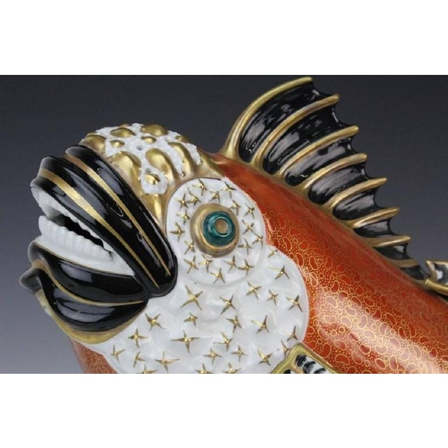 A masterwork of Italian craftsmanship by the Mangani family in partnership with the Oggetti company. This fish has a gilt,...