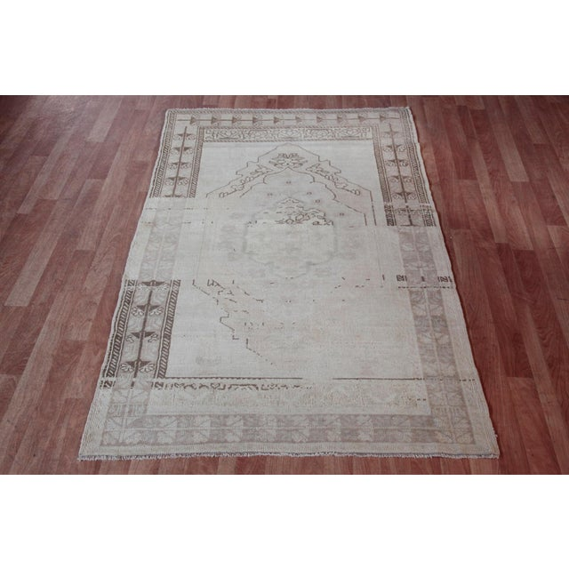 """Vintage Turkish Muted Wool Rug - 3'11"""" x 5'10"""" For Sale - Image 11 of 11"""