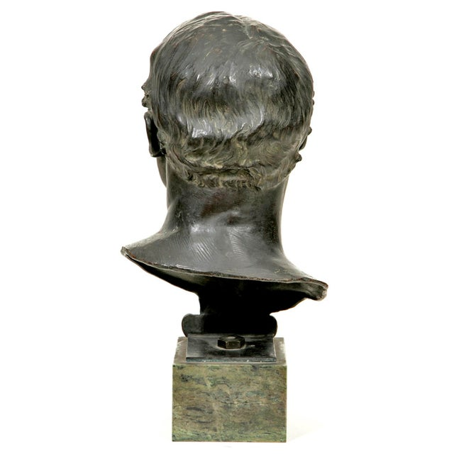 1910s Glasgow School Bronze Bust Sculpture by Francis Derwent Wood For Sale - Image 4 of 6