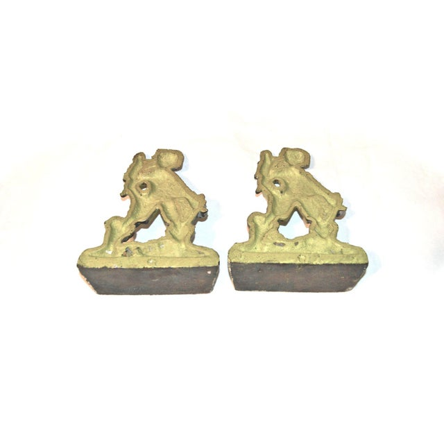 1920s Pirates With Parrots Painted Bookends - A Pair For Sale - Image 5 of 10