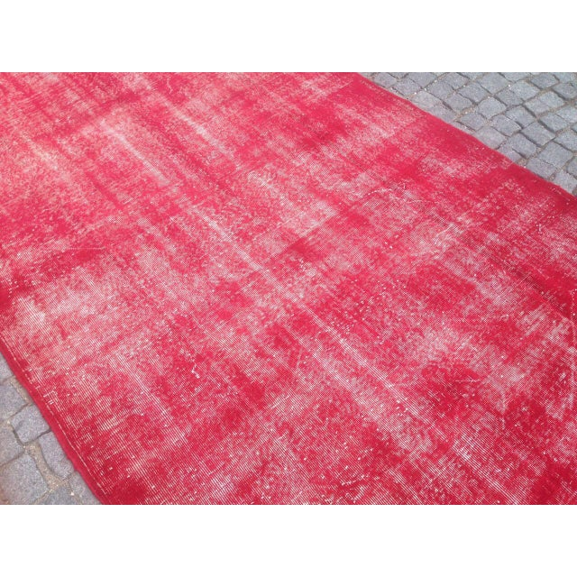 "Islamic Turkish Pink Overdyed Handknotted Rug -- 5'10"" x 9'10"" For Sale - Image 3 of 6"