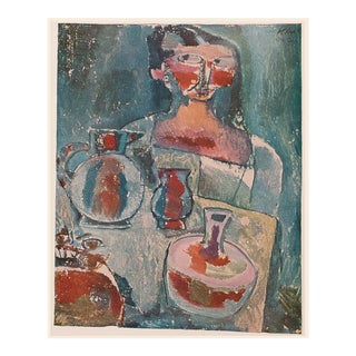 "1955 Paul Klee ""Girl With Jugs"", First Edition Lithograph For Sale"