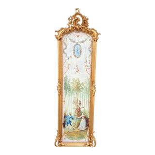 French Rococo Style Frame With Gobelin Story For Sale