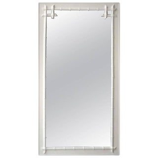 Hollywood Regency Style Faux Bamboo Wall Mirror For Sale