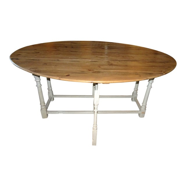 19th Century Swedish Peach Pine Dining Table For Sale