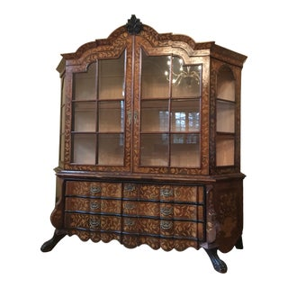 19th Century Dutch Marquetry Breakfront For Sale