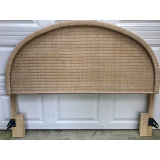 Boho Chic Arched Natural Woven Wicker Queen Headboard Preview