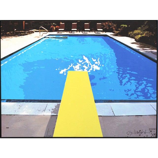 """Swimming Pool"" Acrylic Painting by Michael Giliberti - Image 2 of 10"