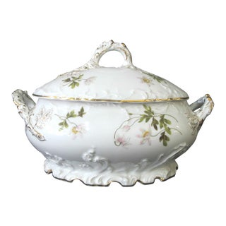 Rosenthal Louis XIV Large Hand Painted Floral Gold Gilt Soup Tureen W/Lid For Sale